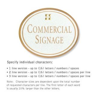 Salsbury 1530WGG2 Commercial Address Sign