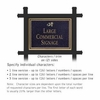Salsbury 1512BGD2 Commercial Address Sign