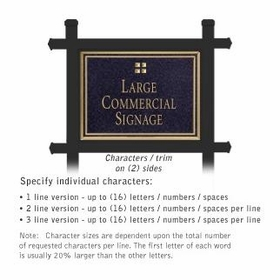 Professional Lawn Plaques - Rectangular 2-Sided - Grid Emblem