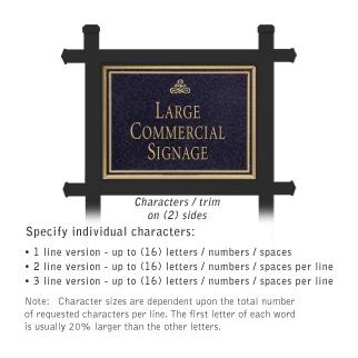 Salsbury 1512BGI2 Commercial Address Sign