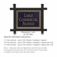 Salsbury 1512BGN2 Commercial Address Sign