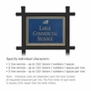 Salsbury 1512CGD1 Commercial Address Sign