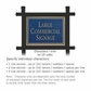 Salsbury 1512CGN2 Commercial Address Sign