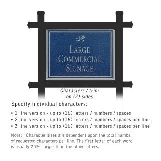 Salsbury 1512CSD2 Commercial Address Sign