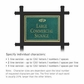 Salsbury 1512JGF1 Commercial Address Sign