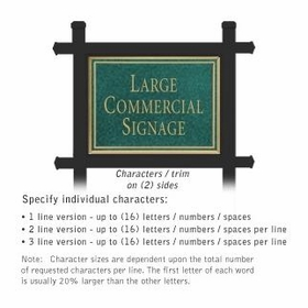 Salsbury 1512JGN2 Commercial Address Sign