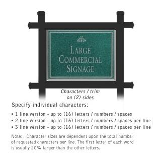 Salsbury 1512JSI2 Commercial Address Sign