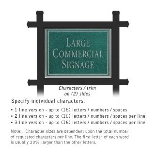 Salsbury 1512JSN2 Commercial Address Sign