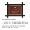 Salsbury 1512MGG1 Commercial Address Sign