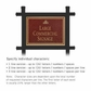 Salsbury 1512MGI1 Commercial Address Sign