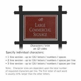 Salsbury 1512MSD2 Commercial Address Sign