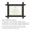 Salsbury 1512WGG1 Commercial Address Sign