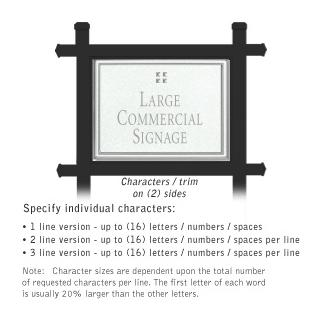 Salsbury 1512WSG2 Commercial Address Sign
