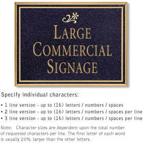 Salsbury 1510BGD2 Commercial Address Sign