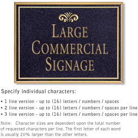 Salsbury 1510BGF Commercial Address Sign