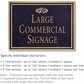 Salsbury 1510BGF2 Commercial Address Sign
