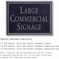 Salsbury 1510BSN2 Commercial Address Sign