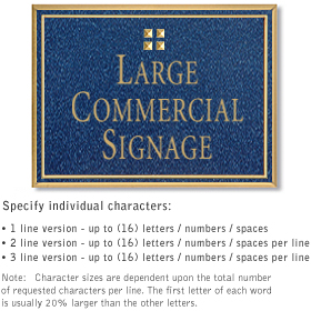 Salsbury 1510CGG Commercial Address Sign