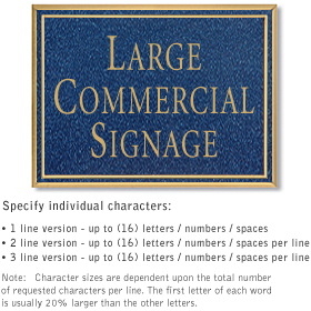 Salsbury 1510CGN2 Commercial Address Sign