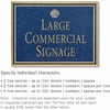 Salsbury 1510CGS2 Commercial Address Sign