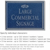 Salsbury 1510CSF2 Commercial Address Sign