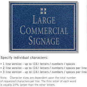 Salsbury 1510CSG2 Commercial Address Sign