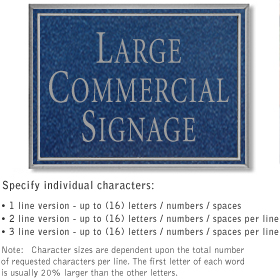 Salsbury 1510CSN2 Commercial Address Sign