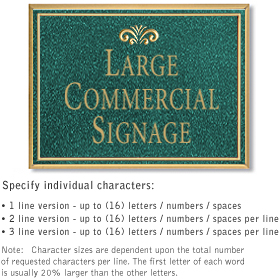 Salsbury 1510JGF Commercial Address Sign