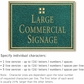 Salsbury 1510JGG Commercial Address Sign