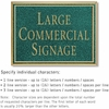 Salsbury 1510JGN2 Commercial Address Sign