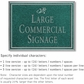 Salsbury 1510JSD2 Commercial Address Sign
