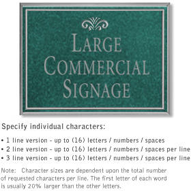 Salsbury 1510JSF Commercial Address Sign