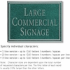 Salsbury 1510JSN2 Commercial Address Sign