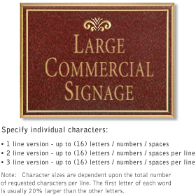 Salsbury 1510MGF Commercial Address Sign