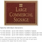 Salsbury 1510MGG2 Commercial Address Sign