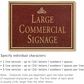 Salsbury 1510MGI2 Commercial Address Sign