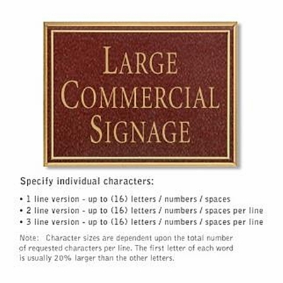 Salsbury 1510MGN Commercial Address Sign