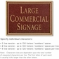 Salsbury 1510MGN2 Commercial Address Sign