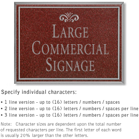 Salsbury 1510MSF2 Commercial Address Sign