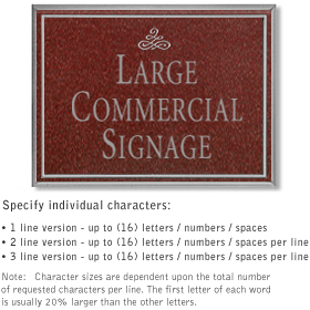 Salsbury 1510MSI Commercial Address Sign