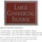 Salsbury 1510MSN Commercial Address Sign