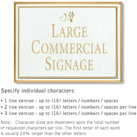 Salsbury 1510WGD2 Commercial Address Sign