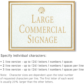 Salsbury 1510WGS2 Commercial Address Sign