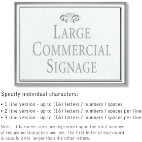 Salsbury 1510WSF2 Commercial Address Sign
