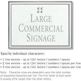 Salsbury 1510WSG Commercial Address Sign