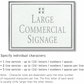 Salsbury 1510WSG2 Commercial Address Sign