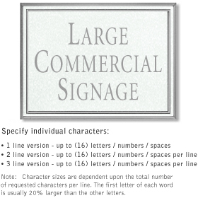Salsbury 1510WSN2 Commercial Address Sign