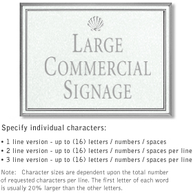 Salsbury 1510WSS Commercial Address Sign