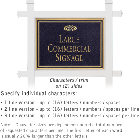 Salsbury 1511BGF2 Commercial Address Sign