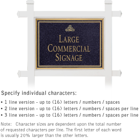 Salsbury 1511BGI1 Commercial Address Sign